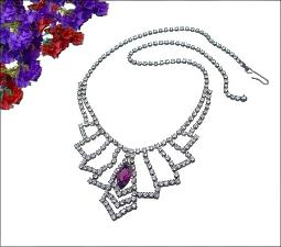 A Divine RS of Crystal and Amethyst swag necklace