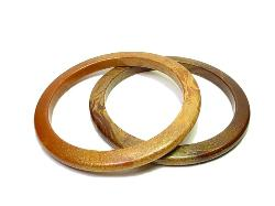 Two | Sim Wood Lucite Bangles