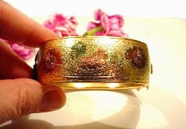 Amazing Florals | Wide Vintage CORO Bangle