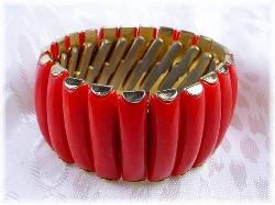 Red Accordian Style Bracelet