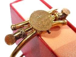 Mid to late 1800's golden hinge bangle