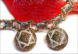 Damascene Jewelry Set With Dragons