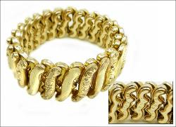Carmen, D.F.B. Co. Gold Filled CARMEN Sweetheart Expansion Bracelet