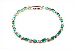 Turquoise green and crystal clear bracelet