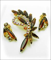 Juliana D & E Brooch Parure
