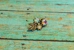 Cutest little AB Rhinestone Vintage Pin