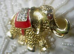 Elephant Figural Pin