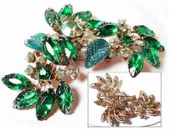 Large Green Blue Juliana Brooch