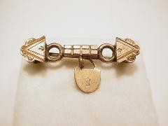 Victorian Brooch With Padlock Charm