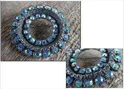 Blues Has It | Vintage Circle RS Brooch