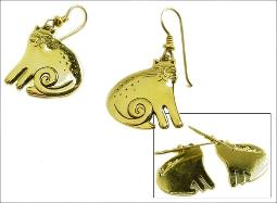 Laurel Birch Gold Cat Earrings