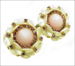 Elaborate Pearlized Moonglow and RS Vintage Clips