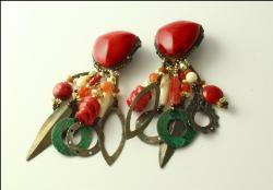 Red Indian Earrings