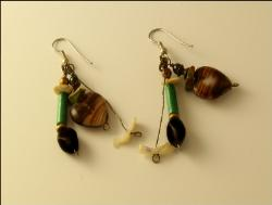 Agate Hearts Earrings