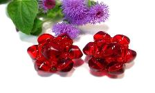 Translucent Red Jelly Glass Vintage Jewelry