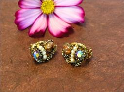 1940's Clip Vintage Earrings