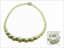 FAB Vintage Faux Pearl Necklace