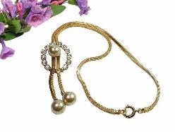 Antique Lariat Bolo Necklace