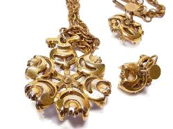 Jewels Nicely Set in Goldtone