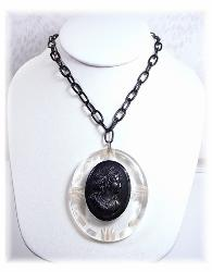 Carved Cameo Antique Necklace