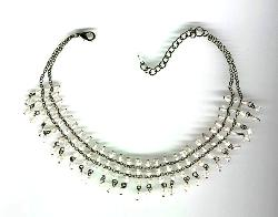 Comtempory Clear and Dangly Chain Necklace