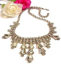 Crystal Necklace, such a shimmering beauty it could also be used in a Wedding
