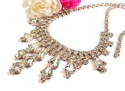 More than one hundred twenty five crystal simulated diamond rs, antique rhinestone jewelr