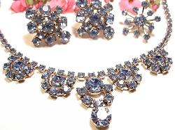 Iced blues in a shocking necklace and earring set