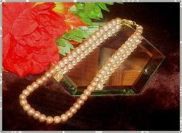 Exquisite heavy glass pearls necklace with sixteen inches of beauty