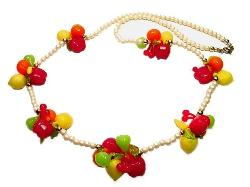 Vintage Plastic Fruit Necklace