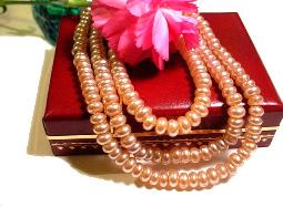 Shimmering Pearl Strand Necklace Measures 29 1/4 Inches