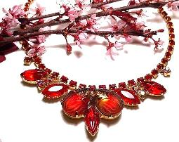 Red Juliana Necklace most collectible vintage costume jewelry