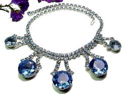 Exceptionally LARGE BLUE Stones Juliana Necklace | Masterpiede