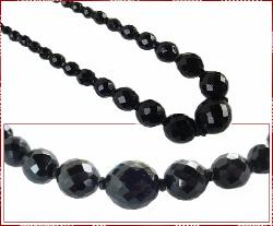 Multi Faceted Black Sets, Weighty, Vintage Necklace