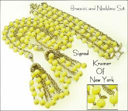 Kramer of New York Sautoir Necklace & Wide Bracelet
