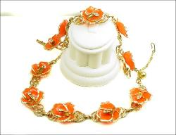 Floral Necklace Demi Parure | Vintage Jewelry at Teresa's