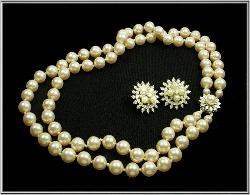 Shop Vintage Pearl Strands, heavy simulated creamy pearl necklace