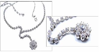 Clear vintage rhinestone necklace, would make a beautiful Bridal Jewelry necklace