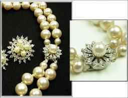 Vintage Pearl Necklace Parure | Vintage Jewelry at Teresa's