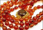 Honey Tortoise Flapper Bead Necklace & Bracelet