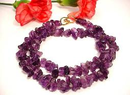 Marked 925 and KY Amethyst vintage jewelry necklace