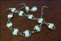 Light Blue Necklace Parure Necklace Bracelet & Earrings