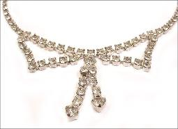 Crystal RS Bow Necklace