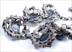 Victorian revival antique necklace in beautiful smokey celluloid grays