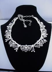 Vintage and shimmering silvertone Coro swags necklace