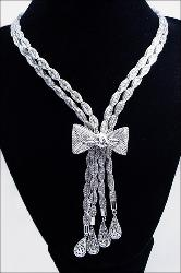 Continental Ribbon Necklace with sophistication