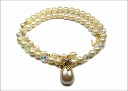 Marvella Pearl Necklace with a teardrop pearl center