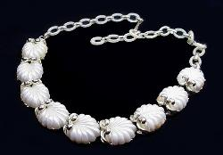 Shell White Thermoset Necklace