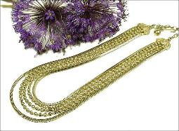 FIVE - Strand Gold Necklace