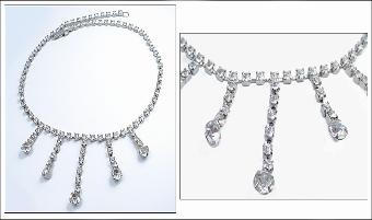 TERRIFIC DROP RHINESTONE NECKLACE